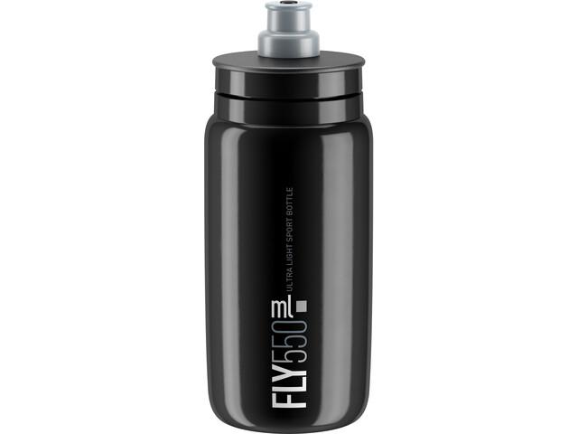 Elite Fly Trinkflasche 550ml schwarz/graues logo